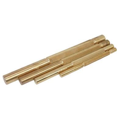 """K Tool 72980 Brass Punch Set 4 Piece - 3/8"""", 1/2"""", 5/8"""", 3/4"""""""