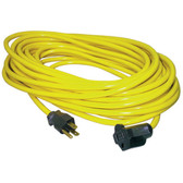 K Tool 73342 Standard Outdoor Extension Cord, 25' Yellow, 16/3 SJTW, 13 Amp