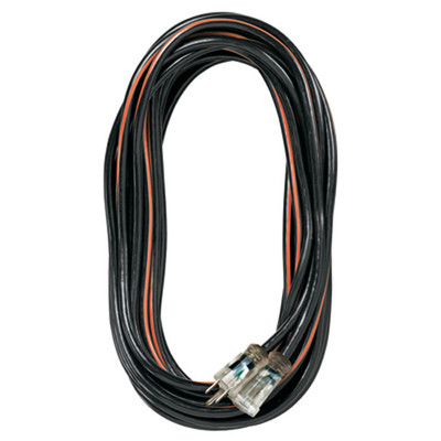 K Tool 73345 Heavy Duty Outdoor Extension Cord, 25' Black/Orange, 14/3 SJTW