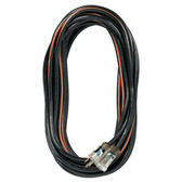 K Tool 73346 Heavy Duty Outdoor Extension Cord, 50' Black/Orange, 14/3 SJTW