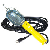 K Tool 73358 Incandescent Trouble Light, 25' 18/3 SJT Cord, Metal Cage with Hook