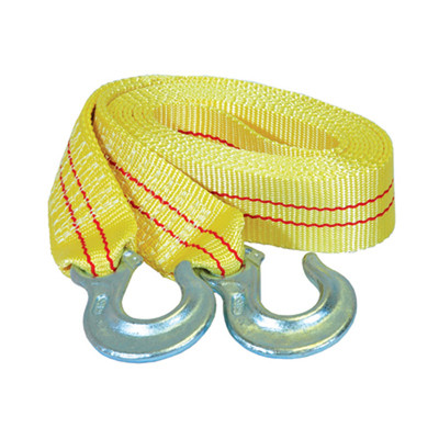 """K Tool 73802 Tow Strap 2"""" x 15' 10,000 lb Capacity - Forged Hooks"""