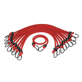 "K Tool 73834 Bungee Cords Heavy Duty 13/32"" x 48"" - 10 Pack"