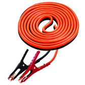 K Tool 74510 Battery Booster Cables, 6 Gauge, 16' Long Heavy Duty Cables, 400 Amp Clamps