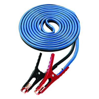 K Tool 74521 Battery Booster Cables, 4 Gauge, 16' Long Extra Heavy Duty Cables, 400 Amp Clamps