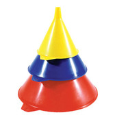 "K Tool 74630 Plastic Funnel Set, 3 Piece, Includes 3-1/2"", 5-1/2"" and 7-1/2"" Diameter Funnels, Made in U.S.A."