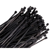 "K Tool 78040 Nylon Ties, 4"" Long, Black, 18 lb Tensile Strength, 100 per Package"