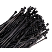 "K Tool 78360 Nylon Ties, 36"" Long, Black, Heavy Duty, 175 lb Tensile Strength, 25 per Package"