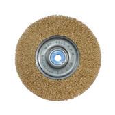 "K Tool 79201 Crimped Wire Wheel, 6"" Diameter, 1/2"" x 5/8"" Center Hole, Coarse, Medium Face, 6000 Max RPM"