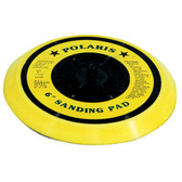 "K Tool 85697 Backing Pad, 6"" Diameter, Flexible, for Dual Action Sanders, Yellow Vinyl"