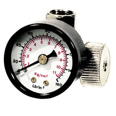 """K Tool 89193 In-Line Air Pressure Regulator, with Gauge, 1/4"""" NPT Threads"""