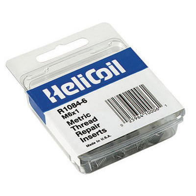 Helicoil R1084-6 Replacement Inserts, 6mm x 0.90 NC, 12 per Package