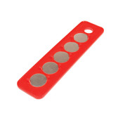 Mag-Clip 72401 Original Mag-Clip Socket Holder Strip Red 1/4""
