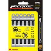"""Picquic 95001 SAE Allen 3"""" Bit Set"""