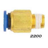 "Milton 2200-2 Straight - Tube 1/4"" OD - 1/8"""