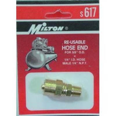 """Milton S617 Reusable Hose End, 1/4"""" x 5/8"""""""