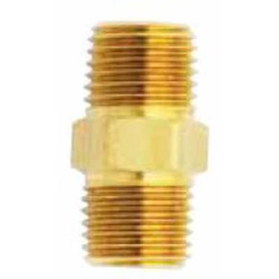 "Milton S647 M. Hex Nipple, 3/8"" x 3/8"" NPT"