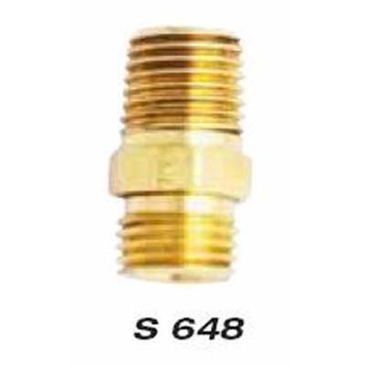 """Milton S648 M. Hex, 1/4"""" NPT x 1/4"""" NPS, 2"""