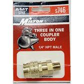 """Milton S746 3-Way 1/4"""" Male Body """"A, M & T"""