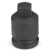 "Grey Pneumatic 1008PP 3/8"" Drive x 1/4"" Square Male Pipe Plug Socket"