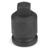 "Grey Pneumatic 1009PP 3/8"" Drive x 9/32"" Square Male Pipe Plug Socket"
