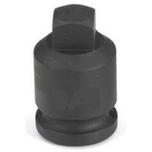 "Grey Pneumatic 1011PP 3/8"" Drive x 11/32"" Square Male Pipe Plug Socket"