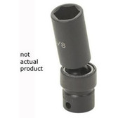 "Grey Pneumatic 1014UD 3/8"" Drive x 7/16"" Deep Universal Socket"