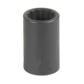 "Grey Pneumatic 1118M 3/8"" Drive x 18mm 12 Point Standard Socket"
