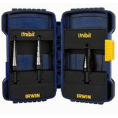 Irwin 10502 Unibit Step Drill Bit Set 3 pc