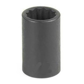 "Grey Pneumatic 1124R 3/8"" Drive x 3/4"" 12 Point Standard Socket"