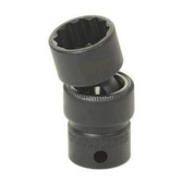 "Grey Pneumatic 1124U 3/8"" Drive x 3/4"" Standard Universal- 12 Point Socket"