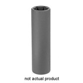 "Grey Pneumatic 2014XD 1/2"" Drive x 7/16"" Extra-Deep Socket"