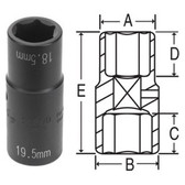 "Grey Pneumatic 2189D 1/2"" Dr. 18.5mm x 19.5mm Damaged Lug Socket"
