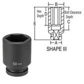 "Grey Pneumatic 4060MD 1"" Drive x 60mm Deep Socket"