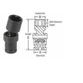"Grey Pneumatic 907UMS 1/4"" Surface Drive x 7mm Standard Universal Socket"