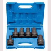 "Grey Pneumatic 9096H 1"" Drive 6 Piece Hex Driver Set Socket"