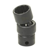 "Grey Pneumatic 1112U 3/8"" Drive x 3/8"" Standard Universal- 12 Point Socket"