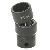 "Grey Pneumatic 1114U 3/8"" Drive x 7/16"" Standard Universal- 12 Point Socket"