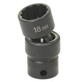 """Grey Pneumatic 1114U 3/8"""" Drive x 7/16"""" Standard Universal- 12 Point Socket"""