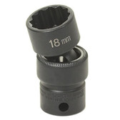 "Grey Pneumatic 1115UM 3/8"" Drive x 15mm Standard Universal- 12 Point Socket"