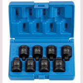 "Grey Pneumatic 1308P 1/2"" Drive 8 Pc. Pipe Plug Socket Set"