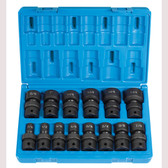 "Grey Pneumatic 1714U 1/2"" Dr. 14 Pc. Std. Length Frac.Univ.Set  - 12 Point"