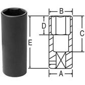 "Grey Pneumatic 2021MDT 1/2"" Drive x 21mm Extra-Thin Wall Deep Socket"