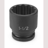 "Grey Pneumatic 3148R 3/4"" Drive x 1-1/2"" Standard - 12 Point Socket"