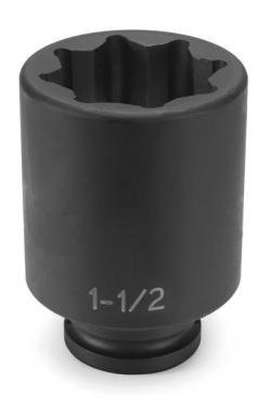 "Grey Pneumatic 3524SD 3/4"" Drive x 3/4"" Deep - 8 Point Socket"