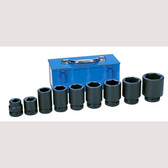 "Grey Pneumatic 9161D 1"" Drive 9 Piece Large Truck/OTR Set Socket"
