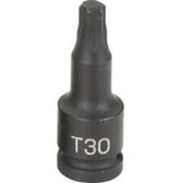 "Grey Pneumatic 930TT 1/4"" Dr. x TT30 Tamper Proof Star Driver"