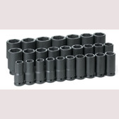 "Grey Pneumatic 8026MD 3/4"" Dr. 26 Piece Deep Metric Master Set 19-50mm"