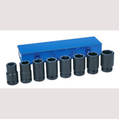 "Grey Pneumatic 9109D 1"" Drive 8 Piece Deep Metric Set Socket"