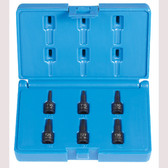 "Grey Pneumatic 996T 1/4"" Drive 6 Pc. Internal Star Impact Driver Set"